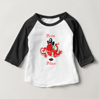 Octopus Pirate Prince Baby 3/4 Sleeve Baby T-Shirt
