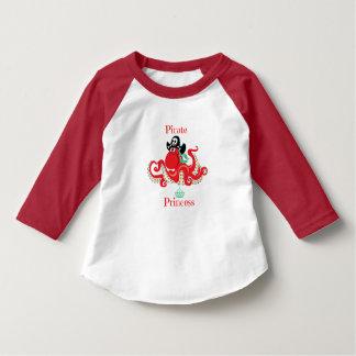 Octopus Pirate Princess Toddler 3/4 Sleeve T-Shirt