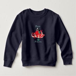 Octopus Pirate Princess Toddler Fleece Sweatshirt