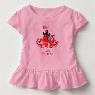 Octopus Pirate Princess Toddler Ruffle Tee