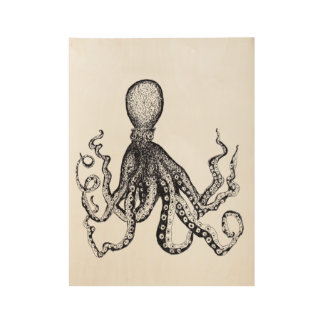 Octopus Poster Wood Poster