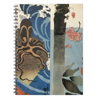Octopus, Red Fish by Utagawa Kuniyoshi Notebooks