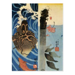 Octopus, Red Fish by Utagawa Kuniyoshi Postcard