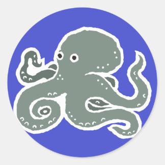 Octopus Round Sticker
