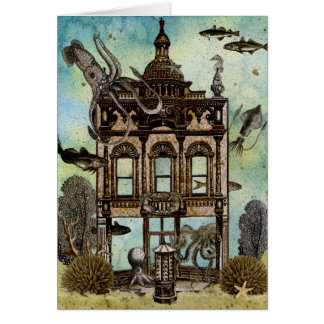 Octopus s House Undersea Greeting Card