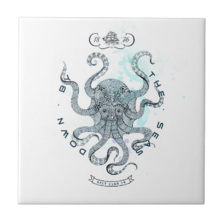 Octopus - Salt Club 76 - Down by the Sea Tile