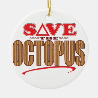 Octopus Save Christmas Ornament