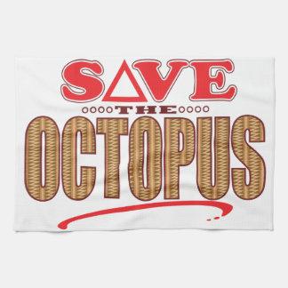 Octopus Save Tea Towel