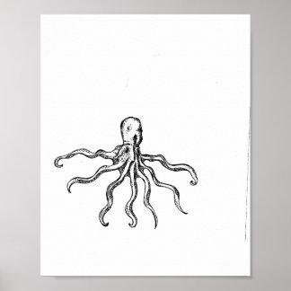Octopus sketch Print