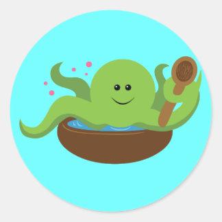 Octopus Soup Round Sticker