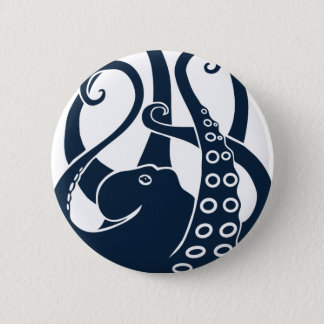 octopus squid cuttlefish oktopus scuba diving 6 cm round badge