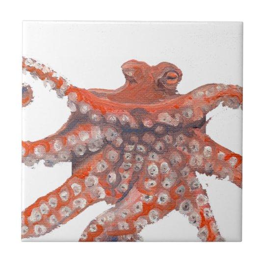 Octopus Squid Kraken Painting Tile