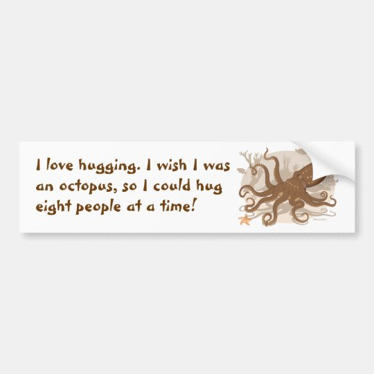 Octopus Starfish Coral Reef Bumper Sticker