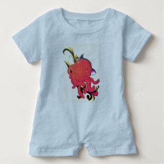 Octopus,surprise kitty hat baby bodysuit