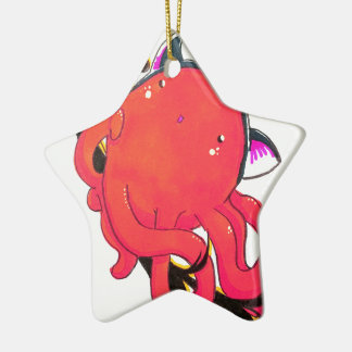 Octopus,surprise kitty hat christmas ornament