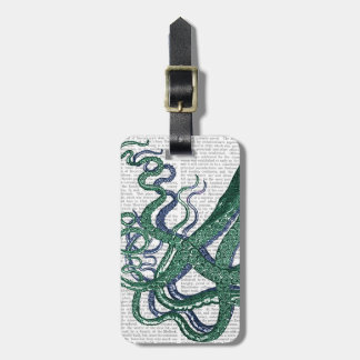 Octopus Tentacles Green and Blue Luggage Tag