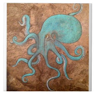 Octopus Tile backsplash