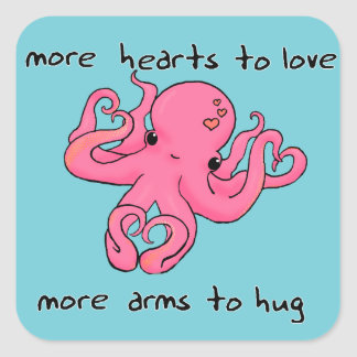 Octopus Valentine's Day sticker Valentines