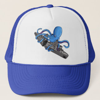Octopus VS. Oil Tanker Trucker Hat
