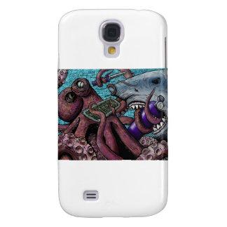 Octopus Vs Shark Samsung Galaxy S4 Cases