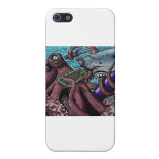 Octopus Vs. Shark Case For iPhone 5