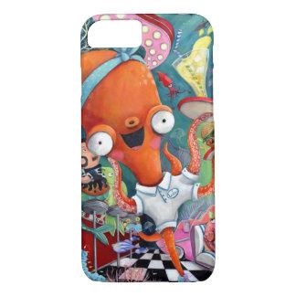 Octopus Waitress in Underwater Road Bar iPhone 8/7 Case