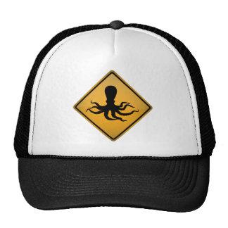 Octopus Warning Sign Cap