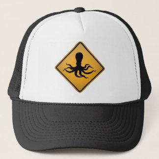 Octopus Warning Sign Trucker Hat