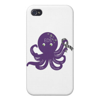 Octopus White Back Ground Case For iPhone 4