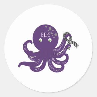 Octopus White Back Ground Classic Round Sticker