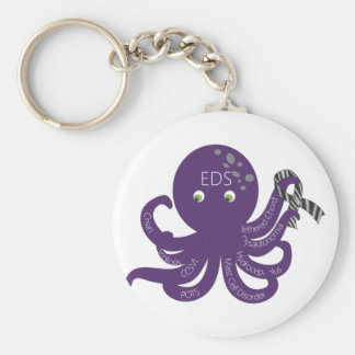Octopus White Back Ground Key Ring