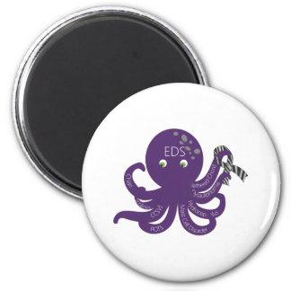 Octopus White Back Ground Magnet