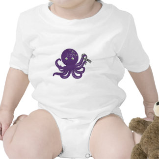 Octopus White Back Ground Rompers