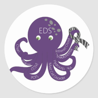 Octopus White Back Ground Stickers