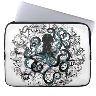 Octopus with Anchors Laptop Sleeve