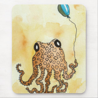 Octopus with Balloon Mouse Mat