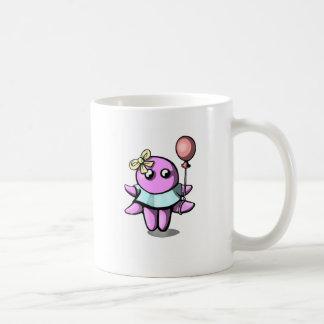 Octopus with baloon basic white mug