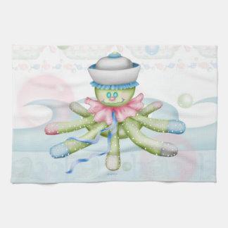 OCTOPUSS BABY CARTOON  Linen with crockery Tea Towel