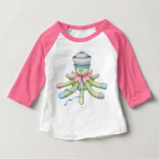 OCTOPUSS BABY CUTE Baby American Apparel 3/4 Sleev Baby T-Shirt