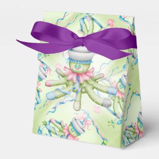 OCTOPUSS BABY   Tent  Ribbon Favor Box purple