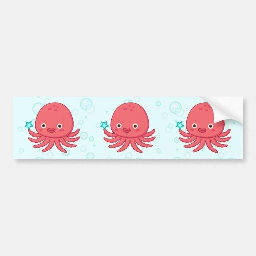 Octopus's Got Star Bumper Sticker