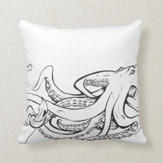 Octopuss With Anchor - Pillow! Cushion