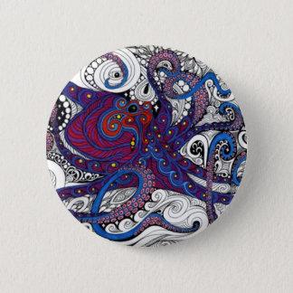 octpus! 6 cm round badge