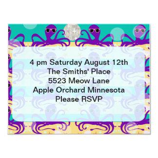 Octupus Octo Party Time Invite