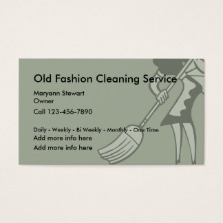 Od Fashioned Cleaning Service Business Cards