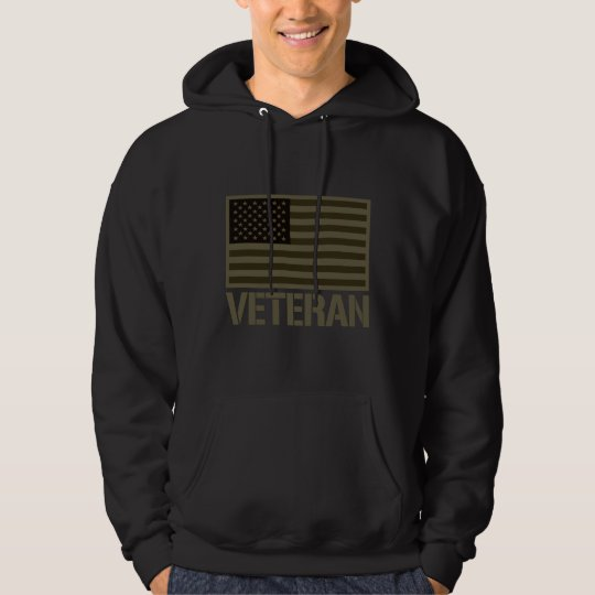 OD Subdued Veteran US Flag Hoodie