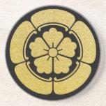 Oda clan Mon or Kamon (black/gold) Drink Coaster