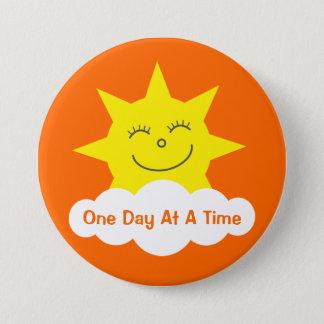 ODAAT Happy Cartoon Sun Customizable Orange 7.5 Cm Round Badge