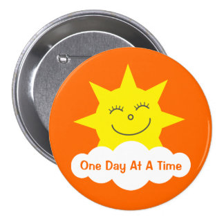ODAAT Happy Cartoon Sun Customizable Orange 7.5 Cm Round Badge