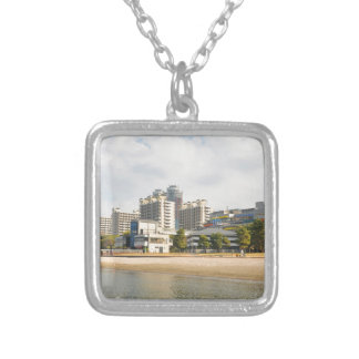 Odaiba district in Tokyo, Japan Silver Plated Necklace